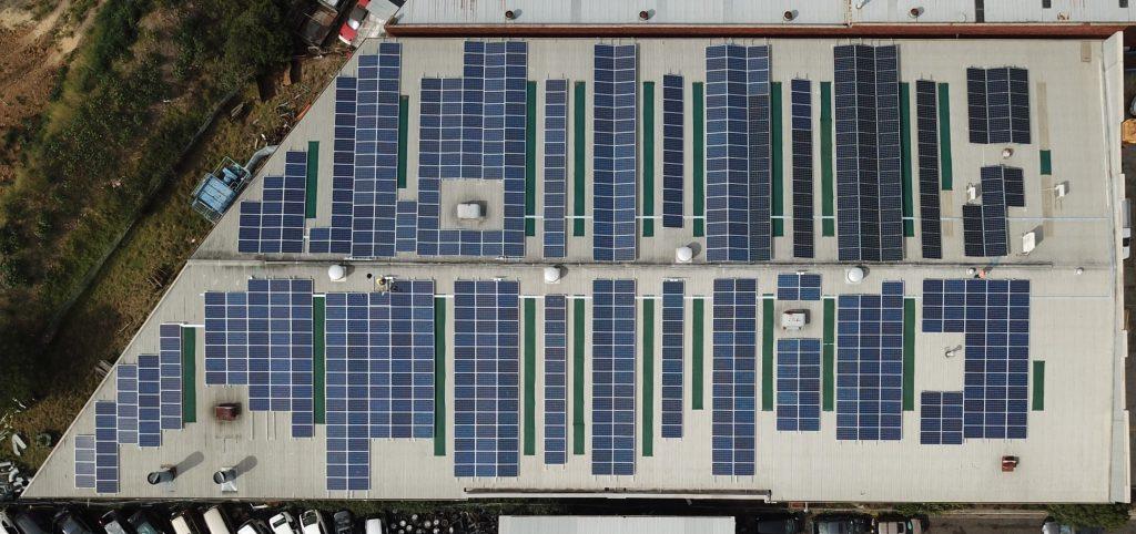 200kW solar on factory