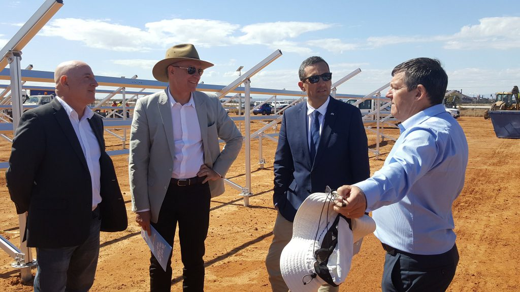 Building the first utility scale solar farm in SA